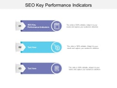SEO Key Performance Indicators Ppt PowerPoint Presentation Show Elements Cpb