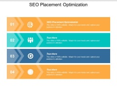 SEO Placement Optimization Ppt PowerPoint Presentation Inspiration Images Cpb