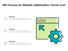 SEO Process For Website Optimization Vector Icon Ppt PowerPoint Presentation Layouts Visual Aids PDF