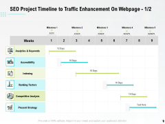 SEO Project Timeline To Traffic Enhancement On Webpage Ppt PowerPoint Presentation Professional Visuals PDF