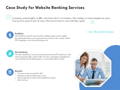SEO Proposal Template Case Study For Website Ranking Services Ppt PowerPoint Presentation Visual Aids Backgrounds PDF