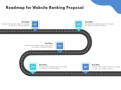 SEO Proposal Template Roadmap For Website Ranking Proposal Ppt PowerPoint Presentation Layouts Display