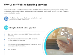 SEO Proposal Template Why Us For Website Ranking Services Ppt PowerPoint Presentation Inspiration Background Image PDF