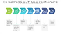 SEO Reporting Process With Business Objectives Analysis Ppt Infographics Gridlines PDF