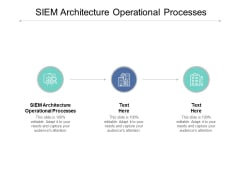 SIEM Architecture Operational Processes Ppt PowerPoint Presentation Portfolio Graphics Cpb
