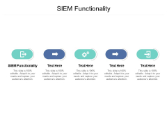 SIEM Functionality Ppt PowerPoint Presentation Layouts Maker Cpb