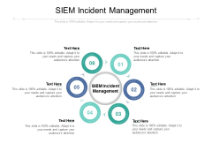 SIEM Incident Management Ppt PowerPoint Presentation Infographic Template Background Image Cpb