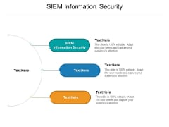 SIEM Information Security Ppt PowerPoint Presentation Slides Information Cpb