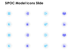 SIPOC Model Icons Slide Ppt PowerPoint Presentation Portfolio Rules