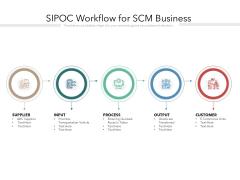 SIPOC Workflow For SCM Business Ppt PowerPoint Presentation Inspiration Slideshow PDF