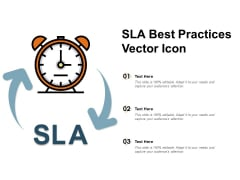 SLA Best Practices Vector Icon Ppt PowerPoint Presentation Styles Sample
