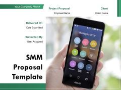 SMM Proposal Template Ppt PowerPoint Presentation Complete Deck With Slides