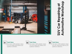 SUV Car Repairing At Automotive Workshop Ppt PowerPoint Presentation File Graphics PDF