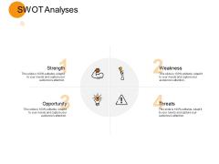 SWOT Analyses Threats Ppt PowerPoint Presentation Slides Background Designs