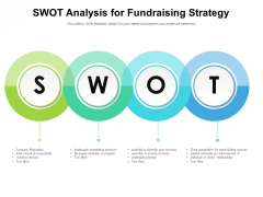 SWOT Analysis For Fundraising Strategy Ppt PowerPoint Presentation Professional Graphics Download PDF