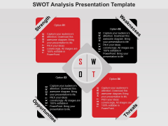 SWOT Analysis Free PowerPoint Diagram