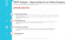 SWOT Analysis Opportunities For An Airline Company Elements PDF