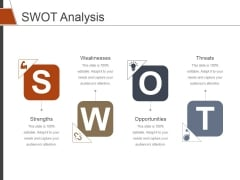 SWOT Analysis Template 1 Ppt PowerPoint Presentation Pictures Inspiration