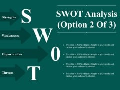SWOT Analysis Template 2 Ppt PowerPoint Presentation Professional Introduction