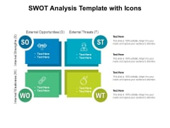 SWOT Analysis Template With Icons Ppt PowerPoint Presentation Layouts Pictures