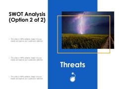 SWOT Analysis Threats Ppt Powerpoint Presentation Ideas Example