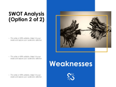 SWOT Analysis Weaknesses Ppt Powerpoint Presentation File Templates