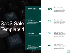 Saas Sale Paid Users Ppt PowerPoint Presentation Ideas Icon