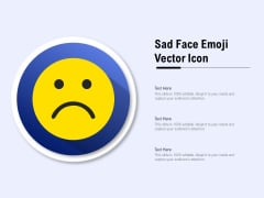 Sad Face Emoji Vector Icon Ppt PowerPoint Presentation Professional Slides PDF