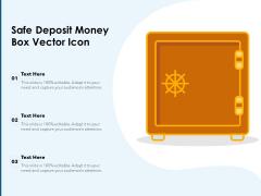 Safe Deposit Money Box Vector Icon Ppt PowerPoint Presentation Portfolio Sample PDF
