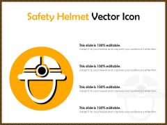 Safety Helmet Vector Icon Ppt PowerPoint Presentation Model Sample