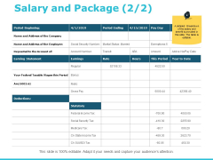 Salary And Package Business Ppt PowerPoint Presentation Professional Gallery