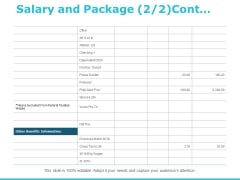 Salary And Package Management Ppt PowerPoint Presentation Inspiration Shapes