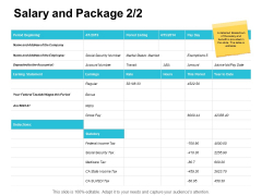 Salary And Package Strategy Ppt PowerPoint Presentation Gallery File Formats
