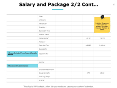 Salary And Package Wages Ppt PowerPoint Presentation Background Images