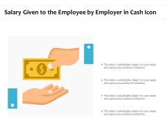 Salary Given To The Employee By Employer In Cash Icon Ppt PowerPoint Presentation Icon Inspiration PDF