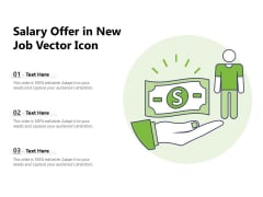Salary Offer In New Job Vector Icon Ppt PowerPoint Presentation File Example Introduction PDF