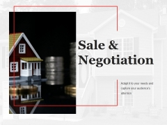 Sale And Negotiation Template 1 Ppt PowerPoint Presentation Design Templates