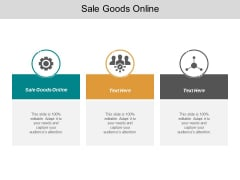 Sale Goods Online Ppt PowerPoint Presentation Model Graphics Pictures Cpb