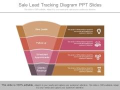Sale Lead Tracking Diagram Ppt Slides
