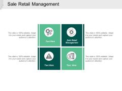 Sale Retail Management Ppt PowerPoint Presentation Professional Demonstration Cpb