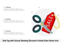 Sale Tag With Scissor Showing Discount In Inside Sales Vector Icon Ppt PowerPoint Presentation Gallery Example PDF