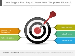 Sale Targets Plan Layout Powerpoint Templates Microsoft