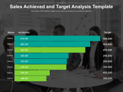 Sales Achieved And Target Analysis Template Ppt PowerPoint Presentation Portfolio Format PDF