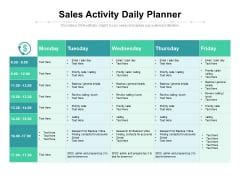 Sales Activity Daily Planner Ppt PowerPoint Presentation Tips PDF
