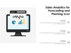 Sales Analytics For Forecasting And Planning Icon Ppt Powerpoint Presentation Show Pdf