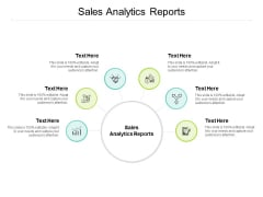 Sales Analytics Reports Ppt PowerPoint Presentation Gallery Cpb