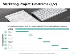 Sales And Business Development Action Plan Marketing Project Timeframe Organization Ppt Inspiration Designs PDF