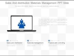 Sales And Distribution Materials Management Ppt Slide