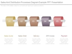 Sales And Distribution Processes Diagram Example Ppt Presentation