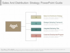 Sales And Distribution Strategy Powerpoint Guide